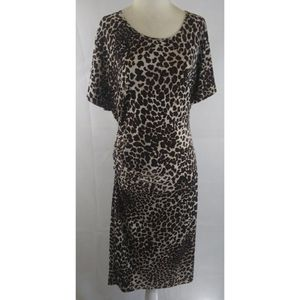 LIZ LANGE Leopard Maternity Dress M